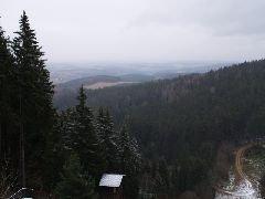 12.12.2009 Výhled směrem na Stachy a Zdíkov [autor: Pavel Vondrášek]