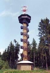17.6.2006 Rozhledna Drahoušek u Osečan [autor: Eva Vondrášková st.]