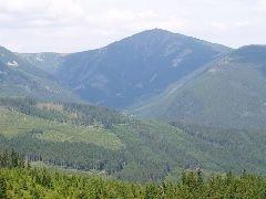 10.8.2009 Výhled na Sněžku a Obří důl [autor: Pavel Vondrášek]