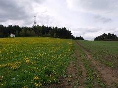 7.5.2010 Rozhledna Hoslovice u Volyně z přístupové polní cesty [autor: Pavel Vondrášek]