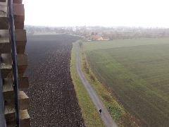 13.11.2009 výhled z rozhledny na obec Hrubý Jeseník [autor: Eva Vondrášková st.]