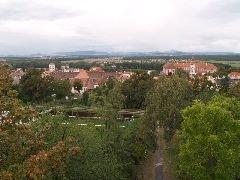 13.9.2009 Výhled z rozhledny na Roudnici a České středohoří [autor: Zdeněk Kohlíček]