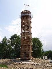 6.7.2013 Rozhledna Maják Járy Cimrmana v Příchovicích, 12 dní před otevřením [autor: Pavel Vondrášek]