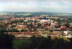 Výhled z rozhledny na město Telč [autor: Pavel Vondrášek]