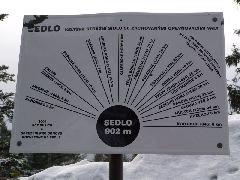 3.1.2010 Vyhlídková tabule na skále pod rozhlednou [autor: Pavel Vondrášek]