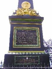 6.8.2005 Popis bitvy u Trutnova na památníku [autor: Pavel Vondrášek]