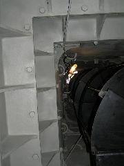 6.8.2005 Část vnitřní konstrukce a schodiště [autor: Pavel Vondrášek]