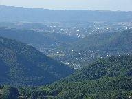 Výhled z rozhledny na Ústí n. Labem, Střekov [autor: Pavel Rotrekl]