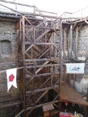1.11.2008  Vestavěná vyhlídka ve věži hradu [autor: Pavel Vondrášek]