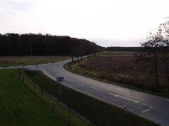15.11.2009 Výhled na silnici mířící k Ledenicím [autor: Pavel Vondrášek]