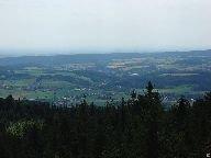 Výhled z rozhledny směrem do vnitrozemí [autor: Pavel Rotrekl]