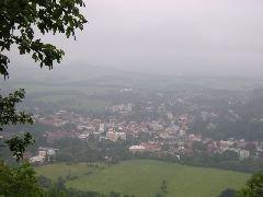 Výhled z rozhledny na Českou Kamenici [autor: Hana Květoňová]